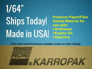 3 Pack Of 1 64 6x9 Paper Fiber Gasket Material Fel pro Engine Car Truck Gas Oil
