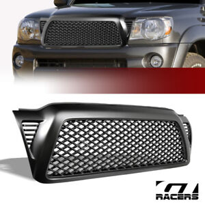 Matte Blk For 2005 2011 Toyota Tacoma Dragon Mesh Front Bumper Grill Grille Abs Fits 2007 Toyota Tacoma