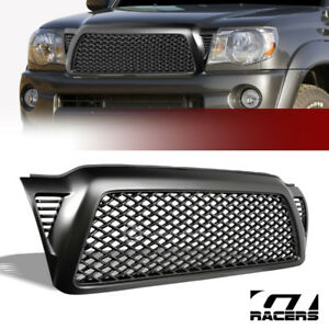 Matte Blk For 2005 2011 Toyota Tacoma Dragon Mesh Front Bumper Grill Grille Abs