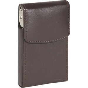 Royce Leather Vertical Framed Card Case Brown Business Accessorie New