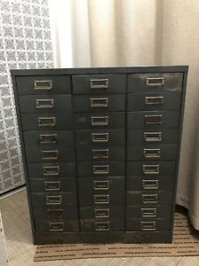Vintage Steelmaster 30 Drawer Metal Cabinet