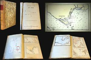 1901 Norcock Logbook For The Hms Glory W Maps Of Singapore Hong Kong