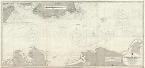 1927 Admiralty Nautical Chart Of The Eastern Portion Of The Singapore Strait