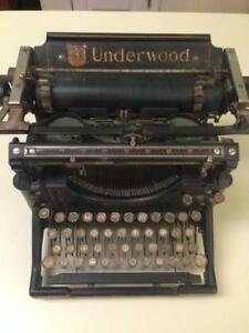 1910 Antique Underwood Standard Typewriter No 5 Vintage Serial Number 292479