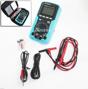Digital Multimeter Volt Amp Ohm Temp Capacitance Tester Handheld Car Automotive