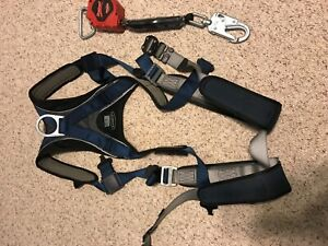 Sala Exofit Safety Climbing Harness Nice Size Large With Auto Retractable Lany