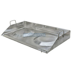 32 Double Stainless Steel Concave Comal Plancha Griddle Pan With Rack Cooking