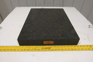Rahn Black Granite Surface Inspection Plate 24 X 18 X 3