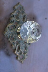 10 Antique Style Glass Faceted Drawer Pull Knob Restoration 3 3 4 Hw 62