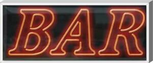 Outdoor Xl Bar Neon Sign Outdoor Jantec Real Neon 37 Wide X 15 High