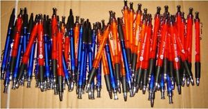 Lot Of 300 New Click Ballpoint Pens All Black Ink Wholesale Lot