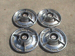 Vintage Chevy Ss Set Of 4 Hubcaps 14 Inch Vintage 1960 s