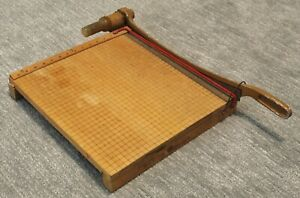 Antique 16 X 16 Paper Cutter Great Size Far Better Quality Than New Ones