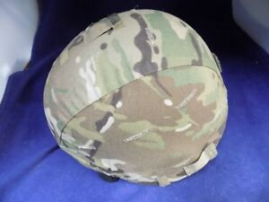 MSA BALLISTIC HELMET TC2000 Series SZ Medium with camo cover pads and chin strap