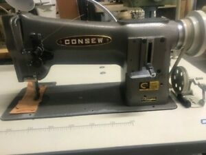 Consew 206rb Industrial Walking Foot Sewing Machine In Good Working Condition