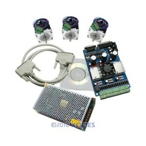 3 Axis 1 5 3a Stepper Driver Cnc Kit Nema23 24vpsu For Mill Router 175 Oz in