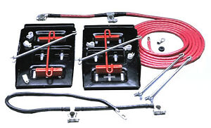 Taylor Cable 48500 Battery Relocator Kit Side By Side Dual Mount
