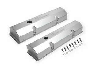 Holley Sniper 890010 Sniper Fabricated Aluminum Valve Cover Chevy Small Blo