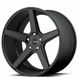 20 Staggered Kmc Km685 District Black Wheels And Tires