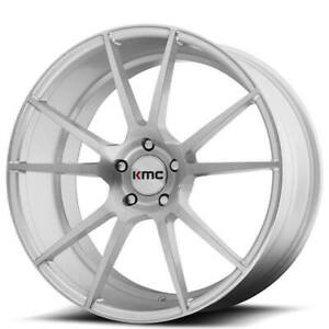 20 Kmc Km709 Flux Brushed Silver Wheels And Tires
