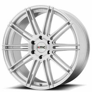 20 Kmc Km707 Channel Brushed Silver Wheels And Tires