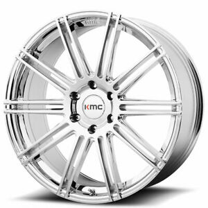 20 Kmc Km707 Channel Chrome Wheels And Tires