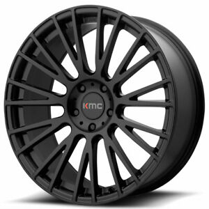 20 Staggered Kmc Km706 Impact Black Wheels And Tires