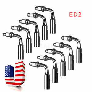 10pc Dental Ultrasonic Scaler Scaling Endo Chuck Files Tip Dte Satelec Ed2 Usa J