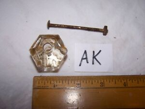 Vintage Antique Glass Door Drawer Knob Pull Lot Ak