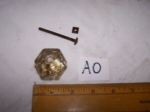 Vintage Antique Glass Door Drawer Knob Pull Lot Ao
