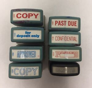 8 Kind Of Xstamper Pre inked Stamp copy past Due posted approved Etc