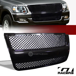 For 2007 2010 Explorer Sport Trac Black Mesh Front Bumper Grill Grille Guard Abs