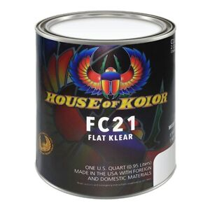 House Of Kolor Fc21 Low Voc Urethane Flat Clear Quart