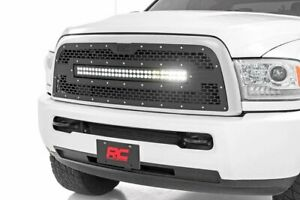 Rough Country Mesh Led Grille fits 13 18 Dodge Ram 2500 3500 30 Light Bar