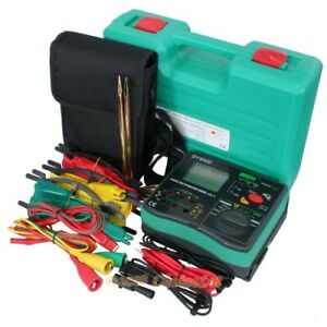 Earth Ground Resistance Insulation Phase Sequence Ac600v Lcd Tester Meter