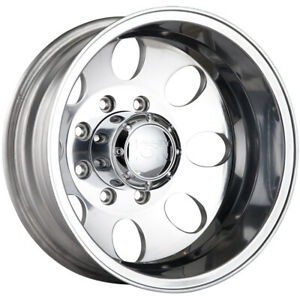 16x6 Polished Alloy Ion Style 167 Dually Rear Wheels 8x6 5 125 Chevrolet