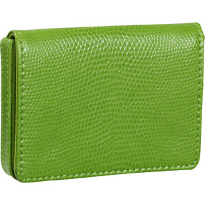 Budd Leather Business Card Case Oversized Lime Business Accessorie New