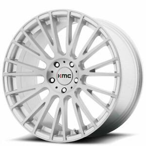 Set4 20 Kmc Km706 Impact Brushed Silver Wheels And Tires