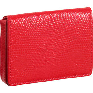 Budd Leather Business Card Case Oversized Red Business Accessorie New
