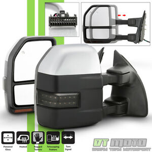 left right G5 2008 2016 Ford F250 F350 Power Heated Led Signal Towing Mirrors