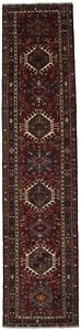 Gorgeous Oversized Runner Gharajeh Vintage Persian Rug Oriental Area Carpet 3x14