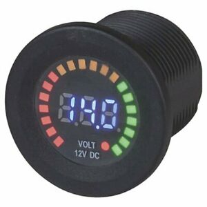Techbrands Led Voltmeter 5 15vdc W Bar Graph Free Global Shipping