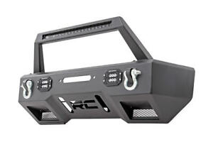 Front Stubby Led Winch Bumper W Led Bar 07 18 Jeep Wrangler Jk Jl Rough Country