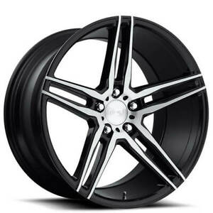 4rims 18 Staggered Niche M169 Turin Brushed Black Wheels And Tires