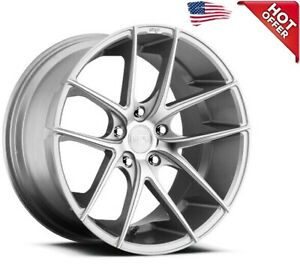 4rims 19 Staggered Niche M131 Targa Silver Machined Wheels And Tires