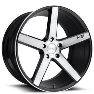 4rims 19 Staggered Niche M124 Milan Brushed Black Wheels And Tires