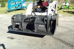Skid Steer 72 Grapple Bucket Bradco Heavy Duty Weighs 835 Lbs
