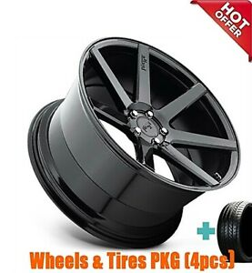 4rims 20 Staggered Niche M168 Verona Black Wheels And Tires