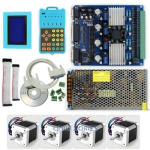 Upgraded Revolutionary Cnc Stepper Driver Set Keypad Display Nema17 Motor psu