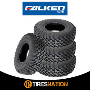 4 New Falken Wild Peak Mt01 Lt265 75r16 E 123 120q Blk Tires